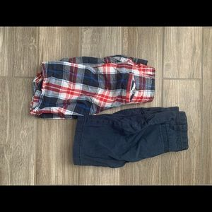 Two pairs of boy shorts